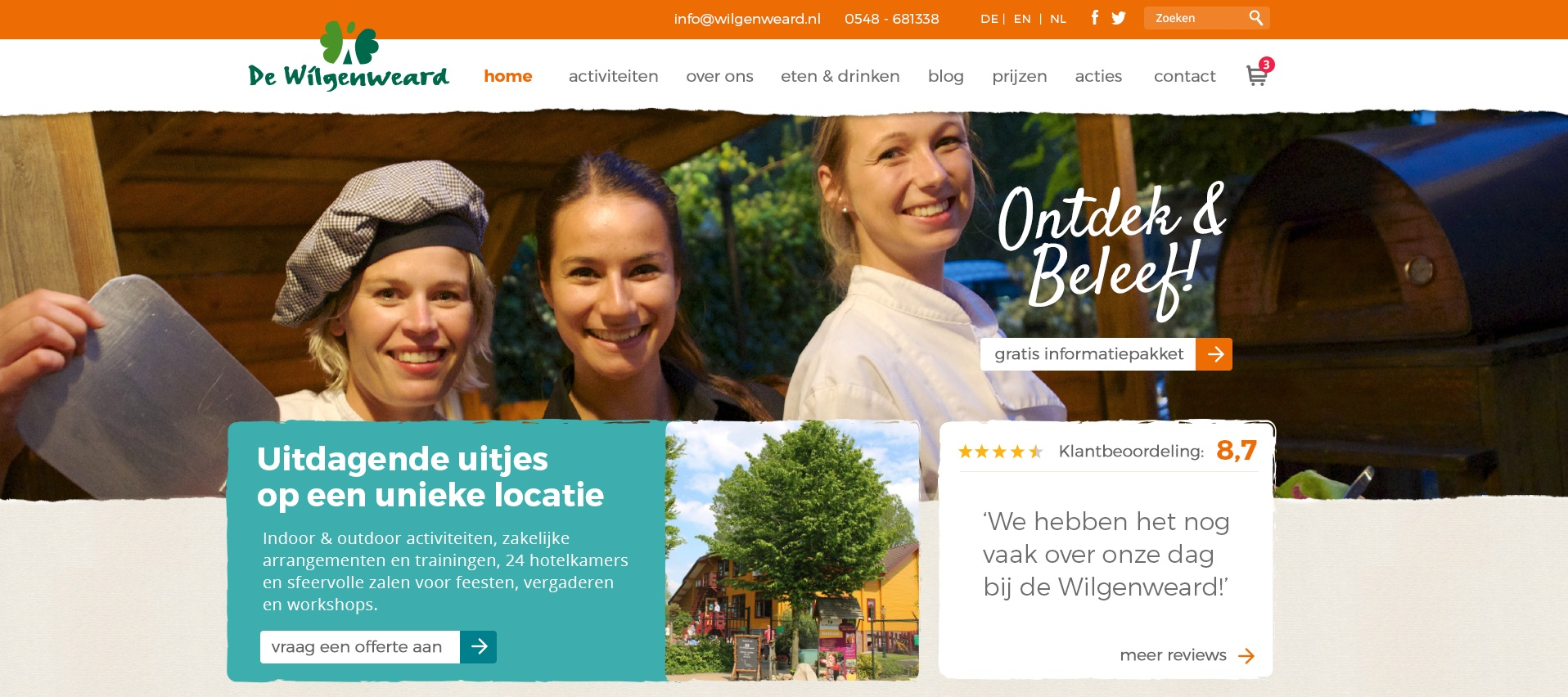 Nieuwe website Wilgenweard online!